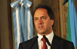"Buenos Aires province governor Daniel Scioli, ""the man to watch"""
