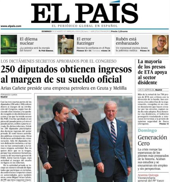 Spanish Newspaper El Pais Launched This Week Its Chilean