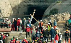 The mine in conflict is where the 33 miners were rescued after 70 days trapped underground
