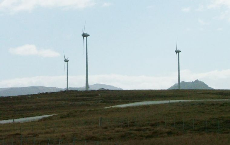 The Islands have six wind turbines; the last three became operational in February