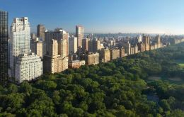 The three bedroom apartment is on the 41st floor of 15 Central Park West