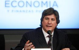 Economy minister Amado Boudou made the announcement