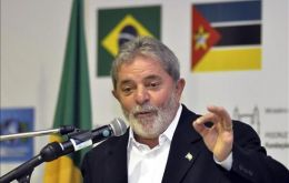 Lula da Silva in one of his many trips to the African continent (Photo EFE)