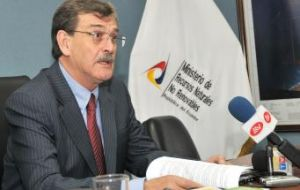 Ecuadorian Minister of Non renewable natural resources Wilson Pastor