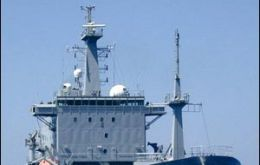 The 13.500 tons vessel is the Royal Navy's deep-water ocean survey vessel and the sixth largest vessel in the fleet.