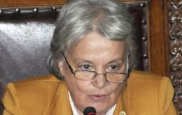 Senator, First Lady (and interim president) Lucia Topolansky