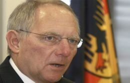 Germany's finance minister Wolfgang Schaeuble optimistic about Ireland and Portugal