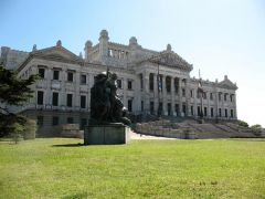 The imposing building of the Uruguayan Legislative branch