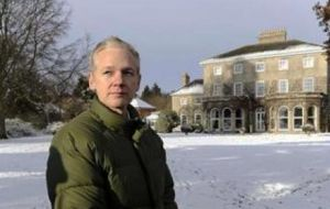 Julian Assange free on bail at Ellingham Hall