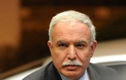 "PNA Foreign Affairs minister Riad al Malki made the announcement on the ""Voice of Palestine""."