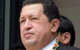 President Chavez takes full advantage of the down pouring and floods