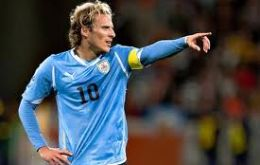 Striker Diego Forlan, the best player of the South Africa World Cup