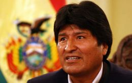 President Evo Morales made the announcement at Government House