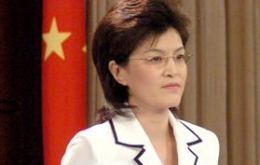 Foreign ministry spokeswoman Jiang Yu made the announcement