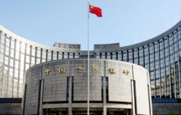 Santa Claus left a brief one line statement at the People's bank of China