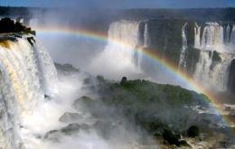 The spectacular falls in the border area of Argentina, Brazil and Paraguay