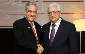 President Piñera is expected in Israel and the Palestine territories