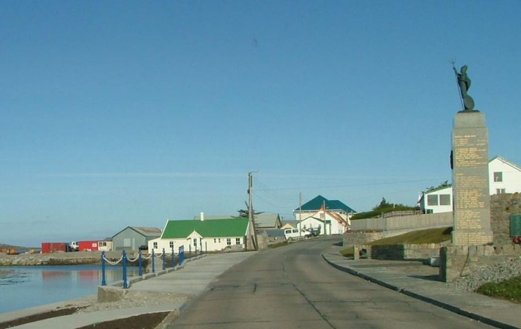 Port Stanley, capital of the Falklands
