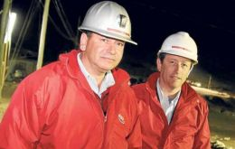 Alejandro Bohn and Marcelo Kemeny the owners of the San Jose mine