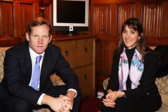 British State Minister for the FCO Jeremy Browne and Colombian Vice Minister for Multilateral Affairs Patti Londoño