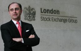 London Stock Exchange chief executive Xavier Rolet (Photo AFP)