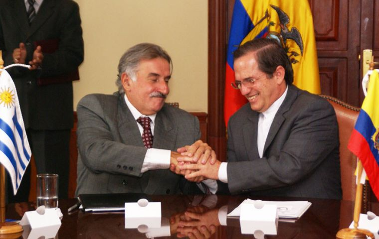 Ambassador Delgado and Foreign Minister Patiño