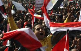 Egyptians celebrate the end of 30 years of Mubarak rule