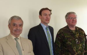 Alistair Craib, Richard Lindsay and Lt Colonel Peter Sonnex