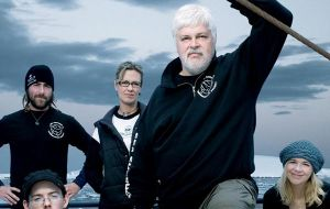 Sea Shepherd group's vessel 'Bob Barker' celebrated the announcement
