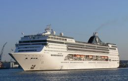MSC Opera with its 2.000 passenger capacity