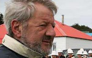 Journalist and writer Raul Sohr in the Falklands