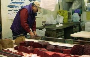 In December Japan had a stockpile of 4.455 tons of frozen whale meat
