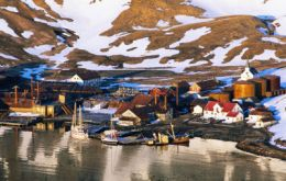 A view of Grytviken a hub of scientific research
