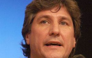 Economy minister Amado Boudou pleased with results ahead of an electoral year