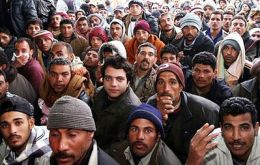 Since the unrest begun 75.000 people fled to Tunisia and another 40.000 are waiting to cross