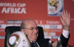 President Joseph S. Blatter praised success of the South Africa World Cup.