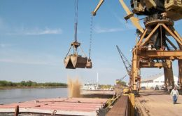 The port of Rosario on the Parana has become one of the world's soy bean hubs