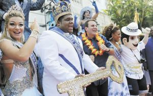 King Momo officially declaring open the fantastic Rio Carnival