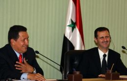 Chavez mid-east brother with President Bashar Assad