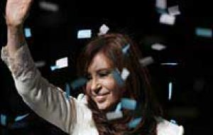 The image of the Argentine president has a 65% support