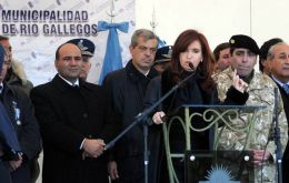 President Cristina Fernandez de Kirchner heads April 2, 29th anniversary (Photo Telam)