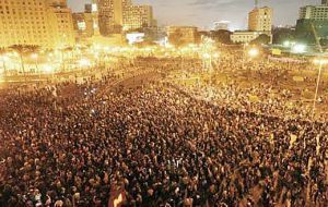 Thousands also marched on Cario's Tahrir Square demanding an end to corruption