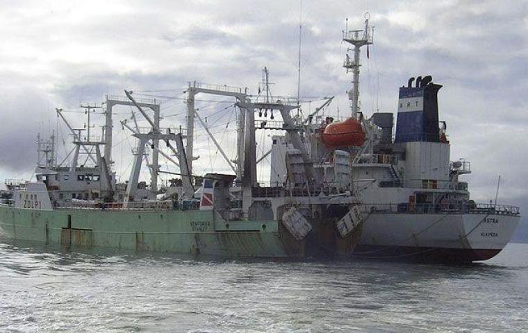Falklands' deports Spanish seamen serving imprisonment