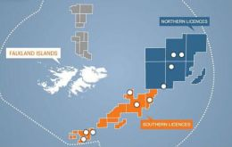 FOGL and B&S hold licences to the South and East of the Falklands