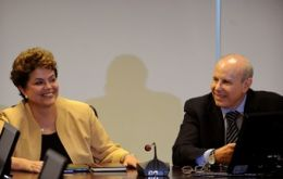 Rousseff, Tombini  and Mantega addressed the issue