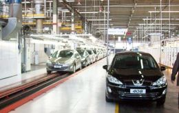 The one millionth car rolls out from the Palomar plant in Argentina