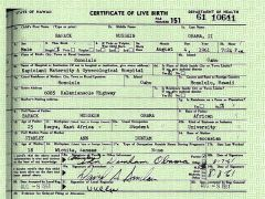The US president was born 4 August 1961 at Honolulu's Kapiolani Hospital