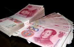The Chinese currency has strengthened 27.5% since 2005