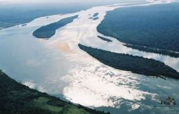 The Belo Monte dam once finished will be world's third largest. Xingu River.