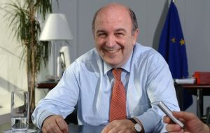 Competition commissioner Joaquin Almunia announced the EU approval of the merger